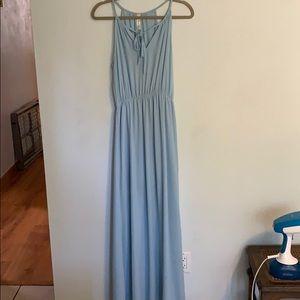 Long Flowy Blue Dress